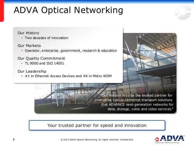 Secure, High Performance Transport Networks Based on WDM Technology Slide 3