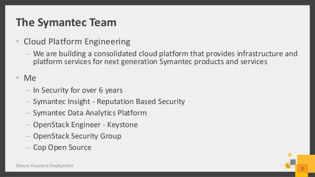 Secure Keystone Deployment Slide 2