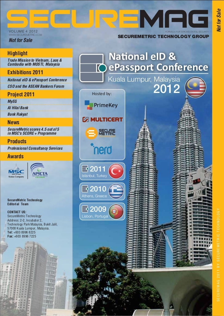 Not for Sale VOLUME 4 2 0 1 2                                                              SECUREMETRIC TECHNOLOGY GROUPNo...