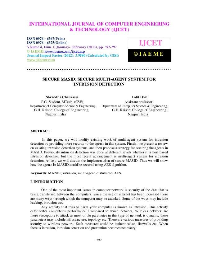 INTERNATIONALComputer EngineeringCOMPUTER ENGINEERING  International Journal of JOURNAL OF and Technology (IJCET), ISSN 09...
