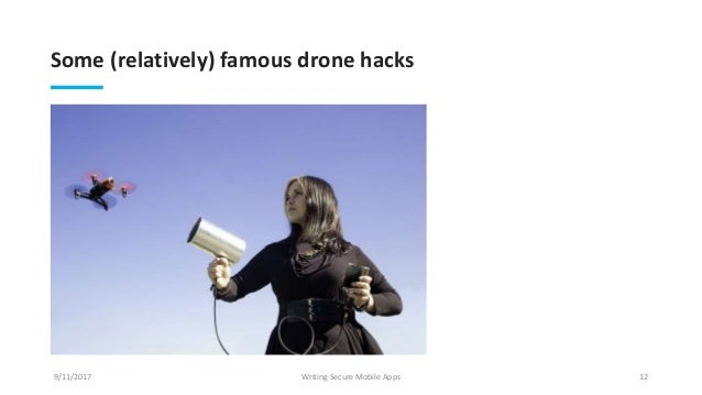 Writing Secure Mobile Apps for Drones
