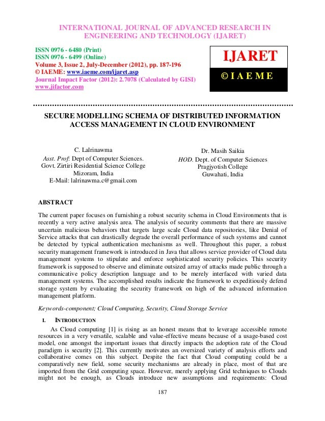 International Journal of Advanced Research in Engineering and Technology (IJARET), ISSN 0976 –          INTERNATIONAL JOUR...