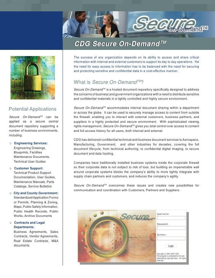 CDG Secure On-DemandTM                                                            TM                                      ...
