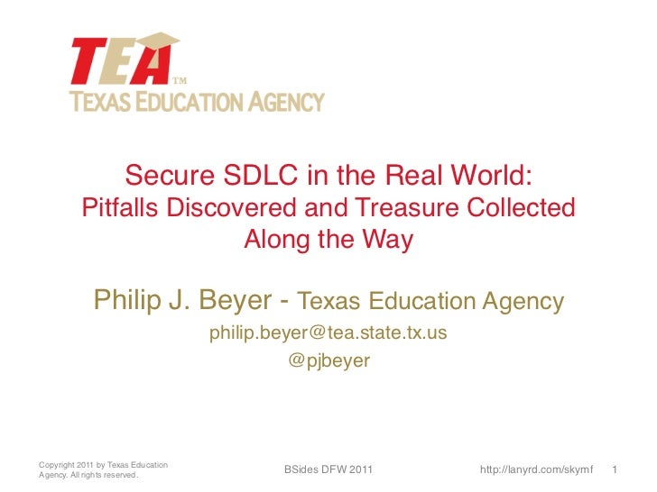Secure SDLC in the Real World: