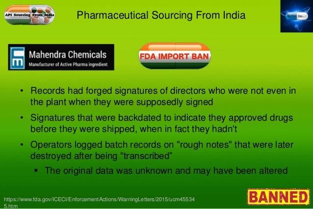 Backdating drug falsification