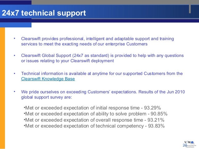 24x7 technical support   •   Clearswift provides professional, intelligent and adaptable support and training       servic...