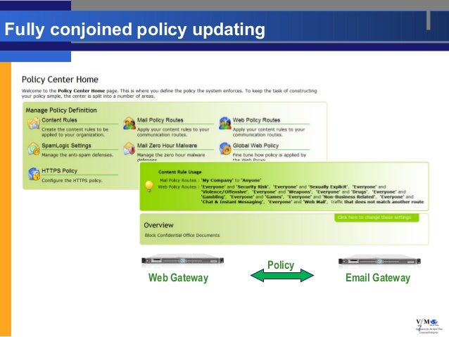 Fully conjoined policy updating                                  Policy                 Web Gateway               Email Ga...