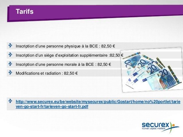 Initiateurs (BCE)  Via guichet d'entreprises Securex Création d'un siège social Statut commerçant/artisan/non- commerçant ...
