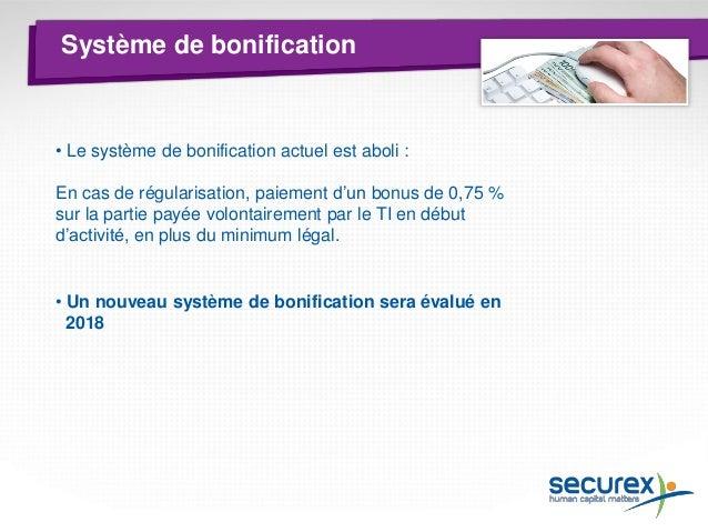 PLCI  Pour la détermination des primes PLCI le système actuel sera appliqué dans le cadre du nouveau calcul :  • Début act...