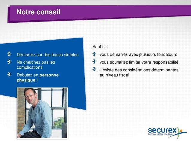 Thème 4 L'indépendant devient employeur Qui est Securex ? Formalités de lancement Droits et obligations de l'indépendant O...