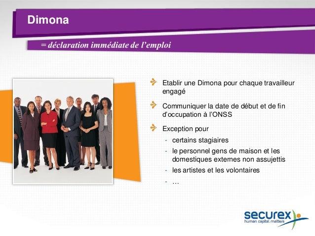 DmfA Communiquer les données salariales et de temps de travail des travailleurs à l'ONSS via une déclaration trimestrielle...