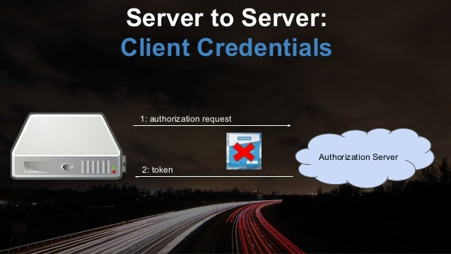 Authorization Server 1: authorization request 2: token Highly trusted app: Resource Owner Password Credential