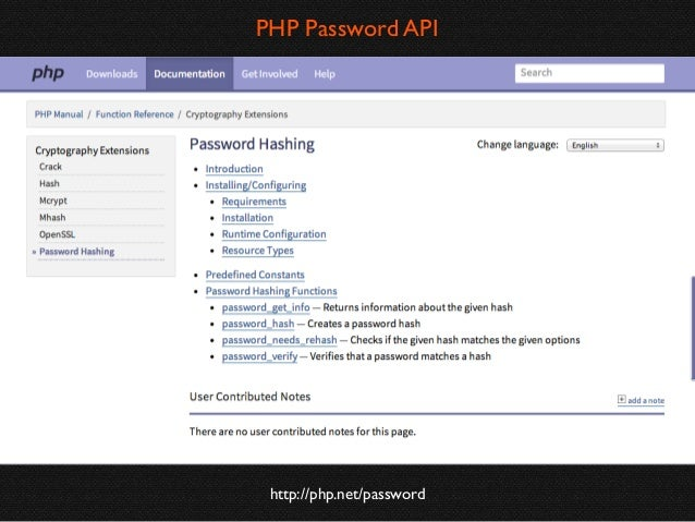 PHP Password API Backward Compatability  https://github.com/ircmaxell/password_compat