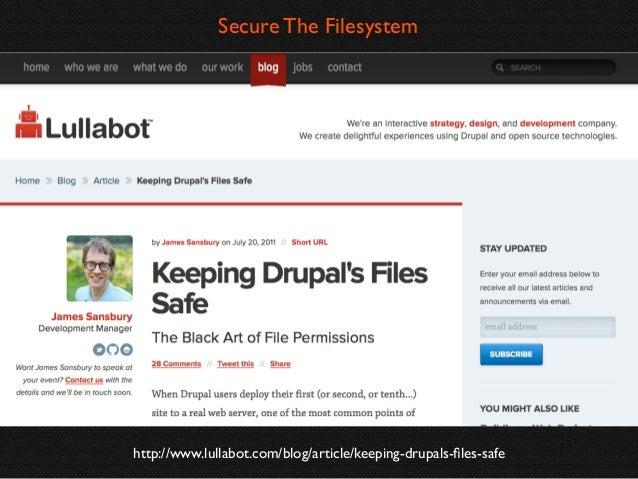 Web server user should not have write permission to Drupal