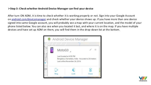 Secure your smartphone with android device manager