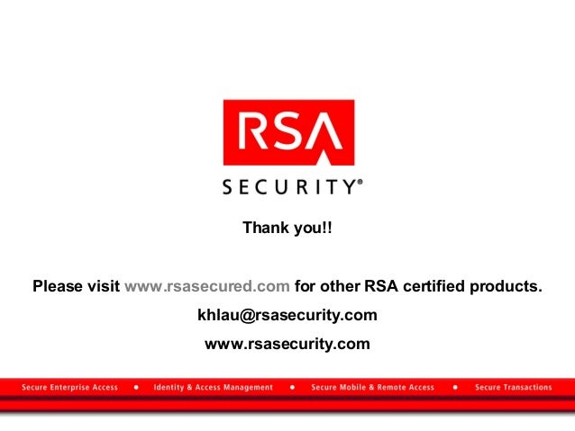rsa securid essay That may be so, however the lack of transparency from rsa security hasn't helped to stem any concern cso online reached a number of rsa securid customers this week, but they couldn't discuss what exactly rsa has revealed to them about the nature of the breach because of signed non-disclosure agreements.