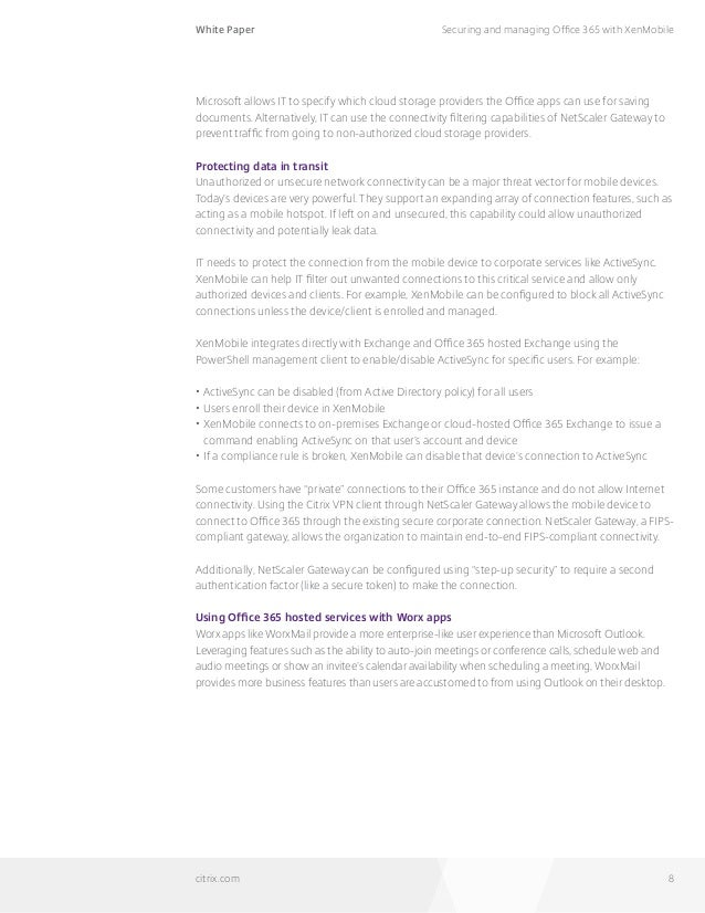 office 365 white paper White paper 1 executive summary microsoft office 365 is a significant move forward for microsoft as it attempts to migrate its user base—and new customers.