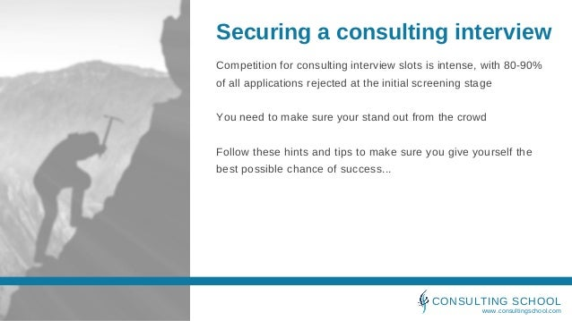 Securing a consulting interview Slide 2
