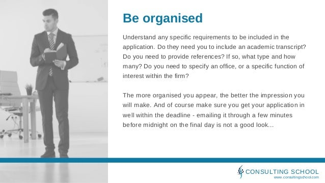 Securing a consulting interview Slide 3