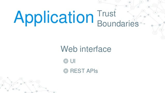 Trust Boundaries Isolation based on Docker containers or VMs. Host