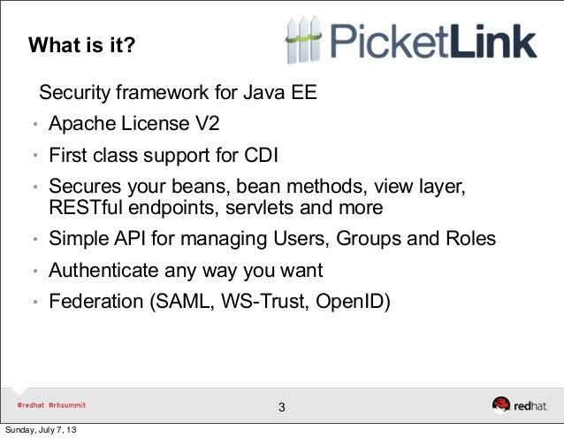 Securing Applications With Picketlink Slide 3