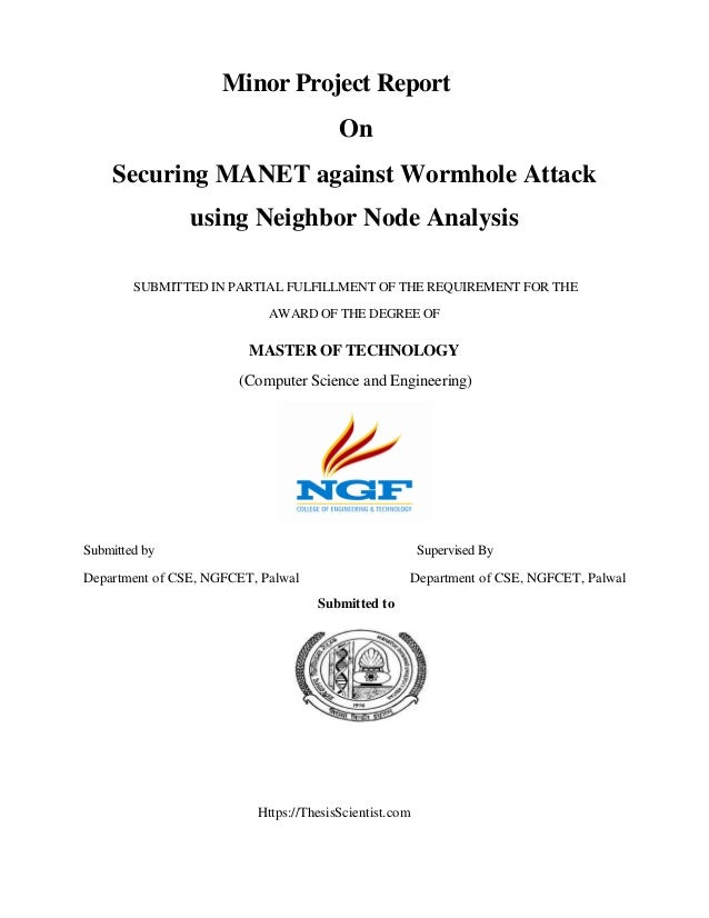 thesis report on wormhole attack in manet