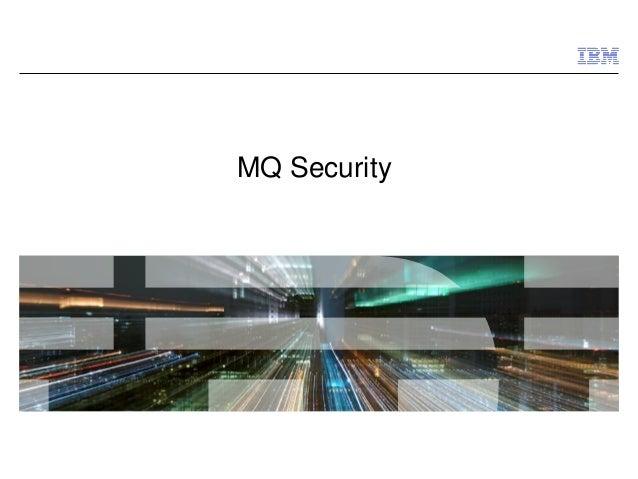 MQ Security