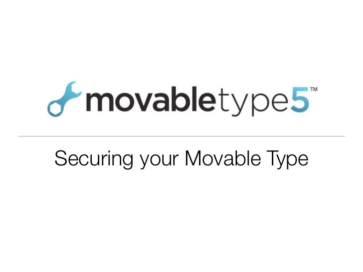 Securing your Movable Type