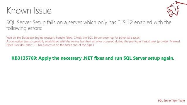 Securing SQL Server with TLS 1 2