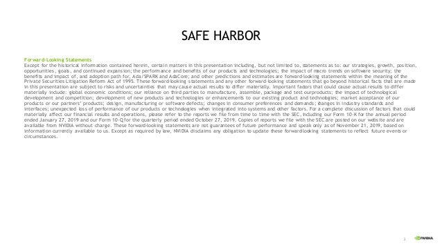 2 SAFE HARBOR Forward-Looking Statements Except for the historical information contained herein, certain matters in this p...