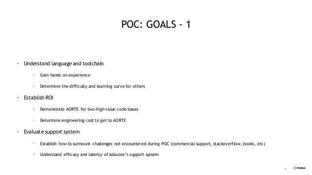 39 POC: GOALS - 2 Run time overhead Code bloat Performance