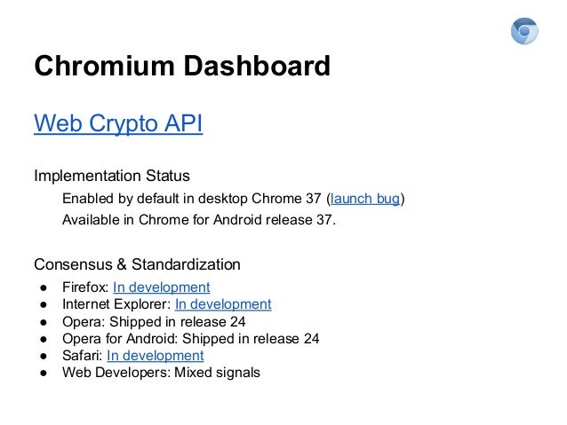 WebCrypto - The Chromium Projects