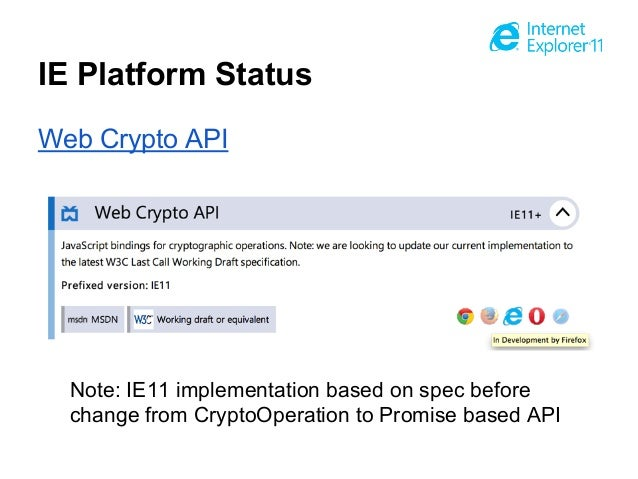 Web Crypto API - Chrome Platform Status