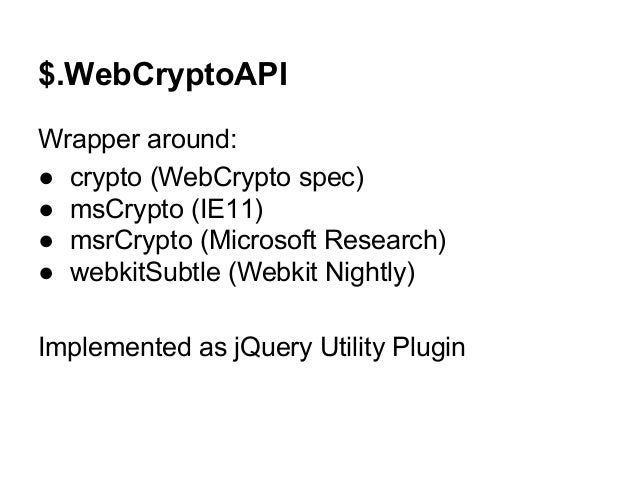 Using the W3C WebCrypto API for Document Signing - w3.org
