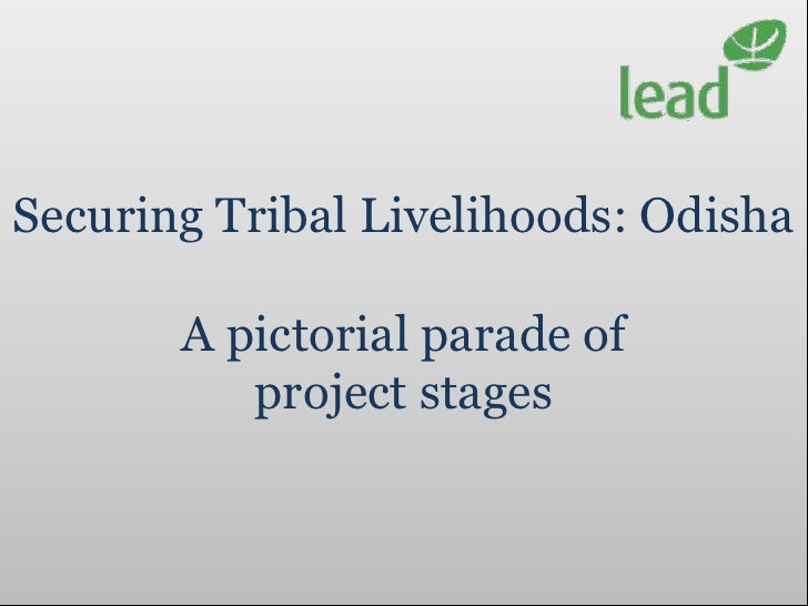 Securing Tribal Livelihoods: Odisha       A pictorial parade of          project stages