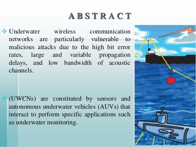 underwater wireless communication with acoustic waves essay A series of review papers were already available to provide a history of the development of the  wireless underwater communications are de-  acoustic waves can.