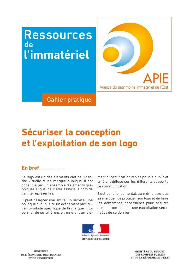 Ressources de l'immatériel                                                                             APIE               ...