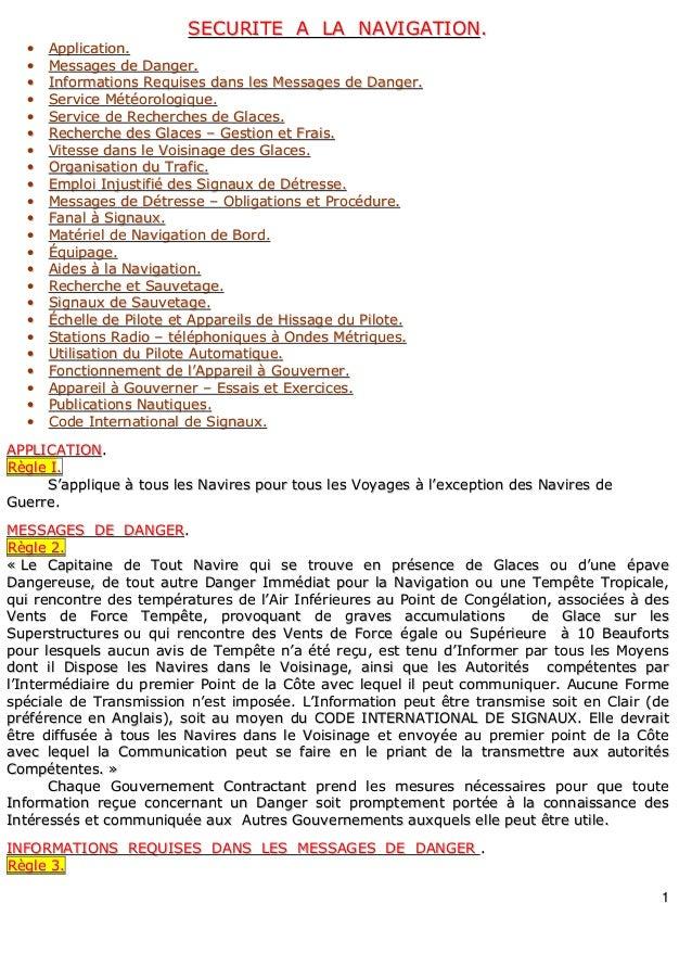 11 SSEECCUURRIITTEE AA LLAA NNAAVVIIGGAATTIIOONN.. •• AApppplliiccaattiioonn.. •• MMeessssaaggeess ddee DDaannggeerr.. •• ...