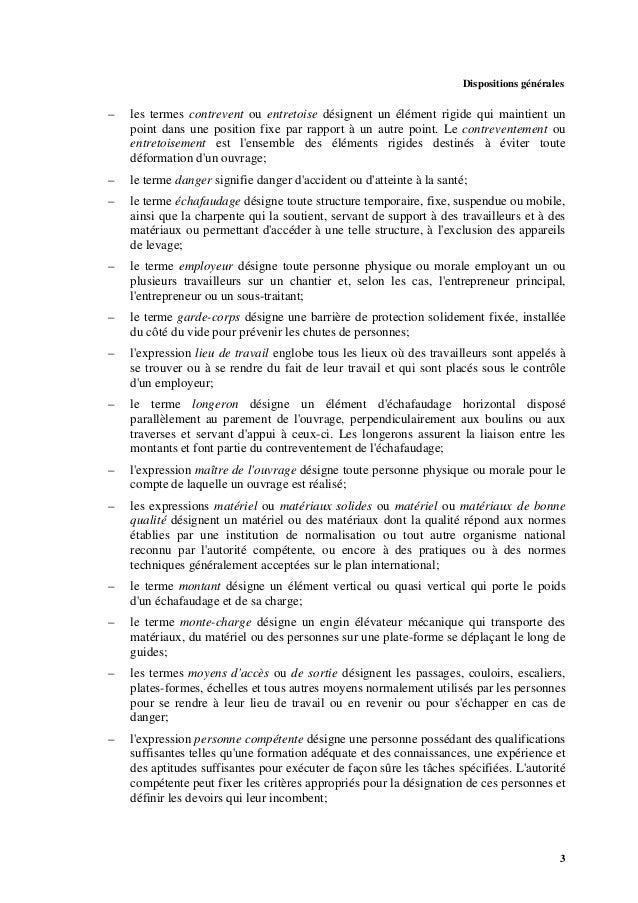 5 2. Obligations générales 2.1. Obligations de l'autorité compétente 2.1.1. L'autorité compétente devrait, sur la base d'u...