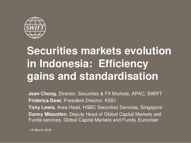 Securities markets evolution in Indonesia