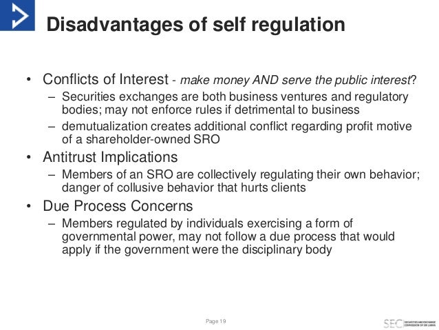 advantages and disadvantages of financial regulation