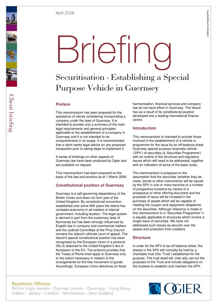 Gsy00009SturFin/9549429                   April 2006                       Briefing                   Securitisation - Est...