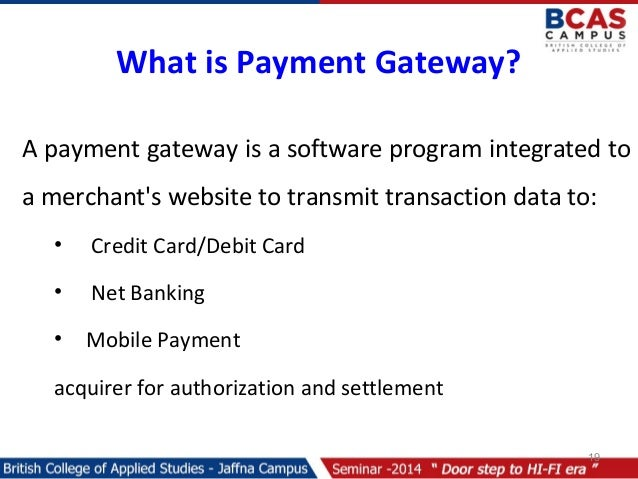 Online payments and Security Gateways