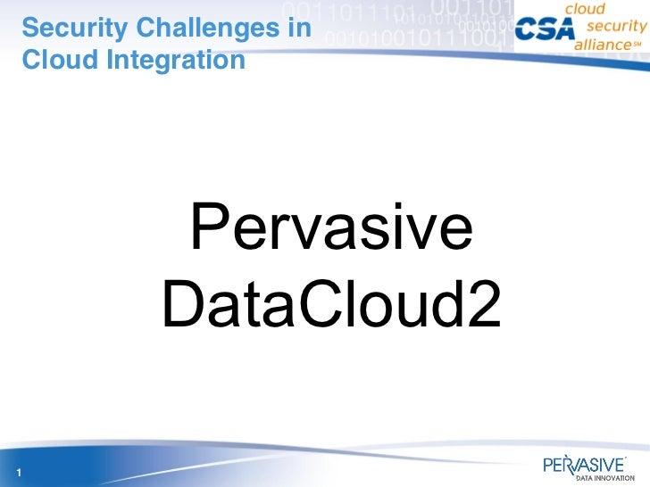 Security Challenges inCloud Integration           Pervasive          DataCloud21