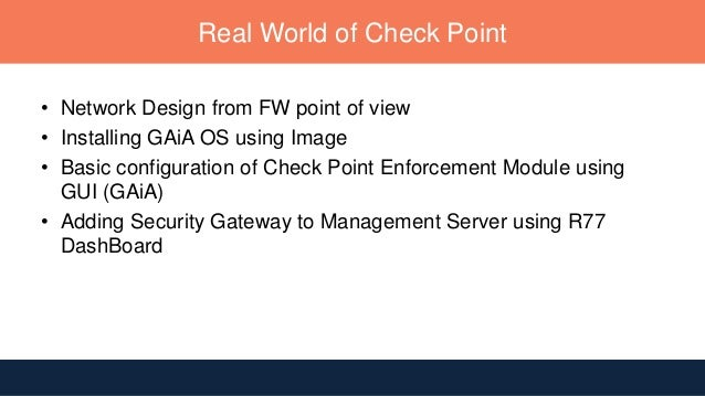 Checkpoint Firewall for Dummies