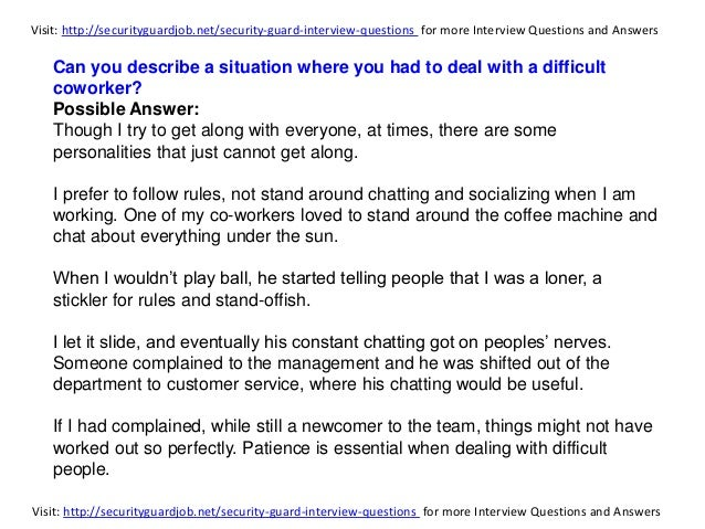 how to handle interview questions