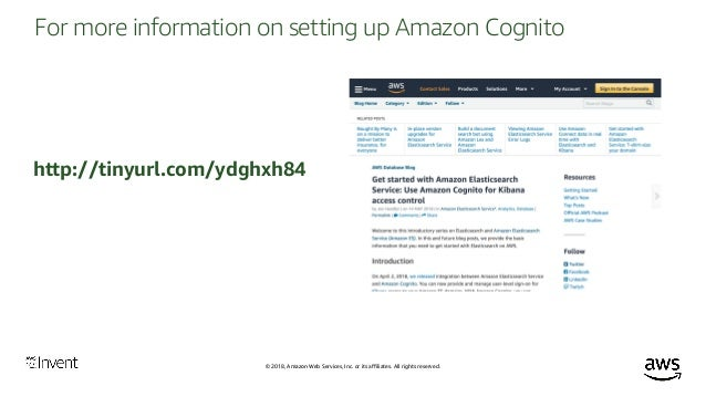 Security in Amazon Elasticsearch Service (ANT392) - AWS re