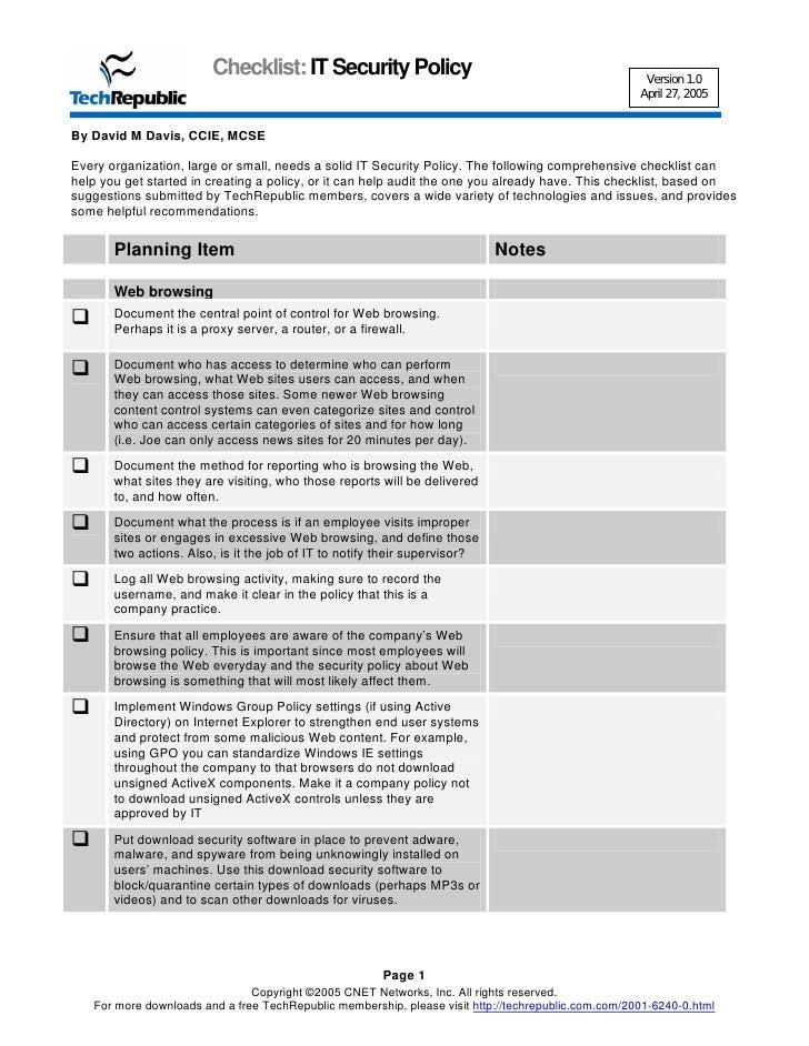 Building Security Plan Template – Site Security Plan Template