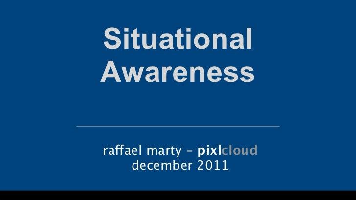 SituationalAwarenessraffael marty - pixlcloud     december 2011