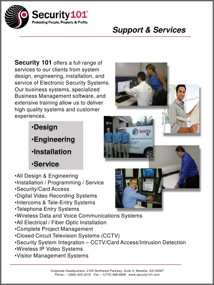 Security 101 Summary Of Qualifications